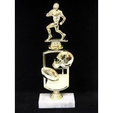 "12"" Football Trophy with Theme Riser"